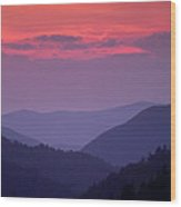 Smoky Mountain Sunset Wood Print by Andrew Soundarajan