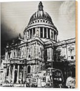 St Pauls Cathedral London Art Wood Print