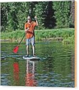 Standup Paddle Wood Print