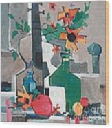 Still Life With A Guitar Wood Print by Micheal Jones