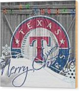 Texas Rangers Wood Print