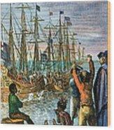 The Boston Tea Party, 1773 Wood Print by Granger