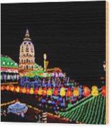 The Fantastic Lighting Of Kek Lok Si Wood Print