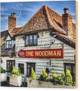 The Woodman Pub Wood Print