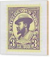 Thelonious Monk -  The Unique Thelonious Monk Wood Print