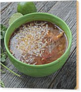 Tortilla Soup Wood Print