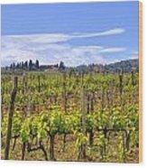 Tuscany - Montalcino Wood Print