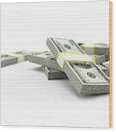 Us Dollar Notes Wood Print