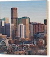 Usa, Colorado, Denver, City View Wood Print