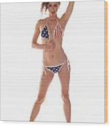 Usa Girl Wood Print