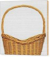 Wicker Basket Number Seven Wood Print