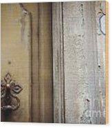 6 With Doorknocker Wood Print