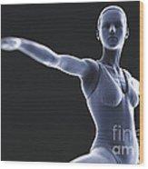 Yoga Warrior II Pose Wood Print