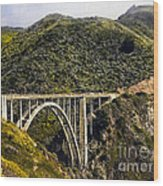 604 Det  Big Sur Bridge Wood Print