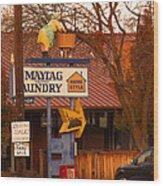 60's Maytag Washer Woman Wood Print