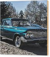61 Chevrolet Biscayne Wood Print
