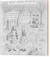 New Yorker April 16th, 2007 Wood Print