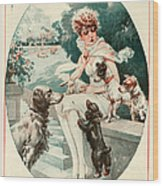 1920s France La Vie Parisienne Magazine Wood Print by The Advertising Archives