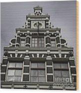 62 Damrak Amsterdam Squared Wood Print