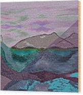 633 - A Dark Stormy Day   Wood Print