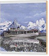 Alaska Yachting Wood Print