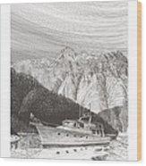 Desolation Sound Quiet Anchorage     Wood Print