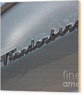 65 T-bird Emblem-7876 Wood Print
