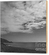 651 Bw The Couds Of Big Sur Wood Print