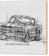 66 Shelby 350 Gt Wood Print by David Lloyd Glover