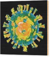 Virus Wood Print