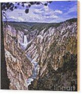 661 Sl Yellowstone Canyon  Wood Print
