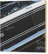 67 Black Camaro Ss Grill-8039-2 Wood Print