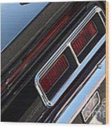 67 Black Camaro Ss Tail Light-8020 Wood Print