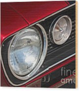 67 Camaro Ss Headlight-8724 Wood Print