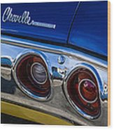 67 Chev Taillight Wood Print