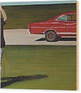 67 Ford Galaxie Wood Print