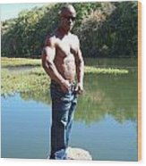 Male Muscle Art Wood Print