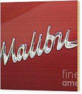 67 Malibu Chevelle Logo -0058 Wood Print