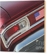67 Malibu Chevelle Tail Light-0060 Wood Print