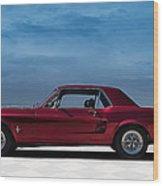 67 Mustang Wood Print
