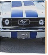 67 Mustang Grill Wood Print