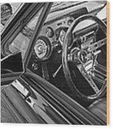 67 Mustang Interior Wood Print