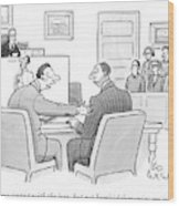 Make Eye Contact With The Jury Wood Print