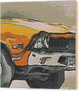 68 Chevelle Abstract Wood Print