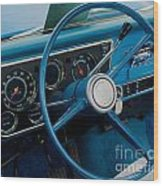68 Chevy Truck Dash Wood Print