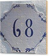 68 Wood Print