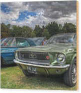 68' Mustang Wood Print