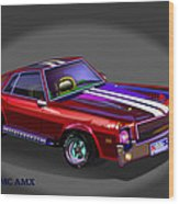 69 Amc Amx Wood Print