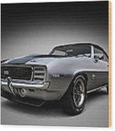 '69 Camaro Ss Wood Print