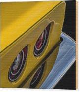 '69 Corvette Tail Lights Wood Print
